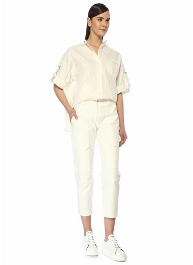 Yves Salomon Gömlek Beyaz